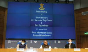 किसान यूनियनों के साथ बातचीत के लिए केंद्र सरकार के दरवाजे हमेशा खुले हैं : नरेंद्र सिंह तोमर