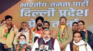 दिल्ली कांग्रेस के सैकड़ों कार्यकर्ता भाजपा में शामिल