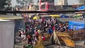 दिल्ली-एनसीआर की सीमाओं पर दूसरे दिन भी किसानों का हंगामा